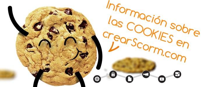 información sobre las cookies en CrearScorm.com